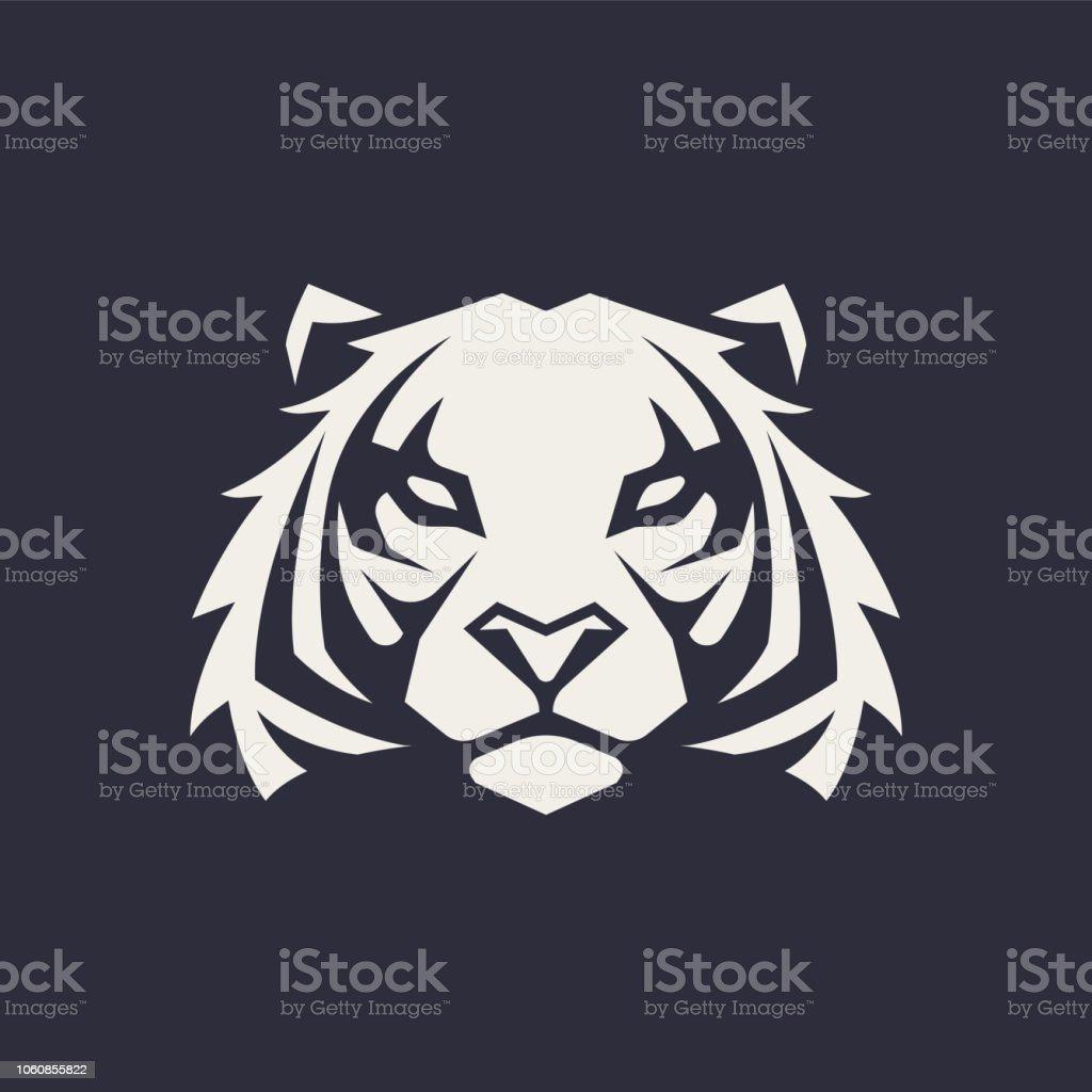 Tigre mascotte Vector Icon - clipart vectoriel de Animaux à l'état sauvage libre de droits