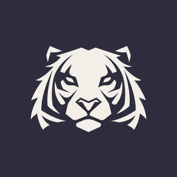 illustrations, cliparts, dessins animés et icônes de tigre mascotte vector icon - tigre