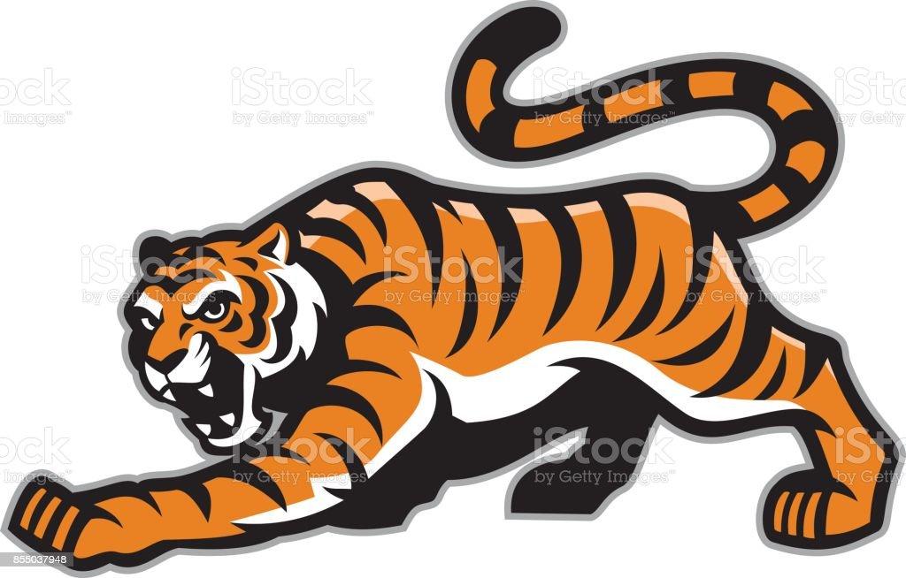 tiger mascot vector art illustration
