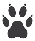 Tiger Paw Print Icon