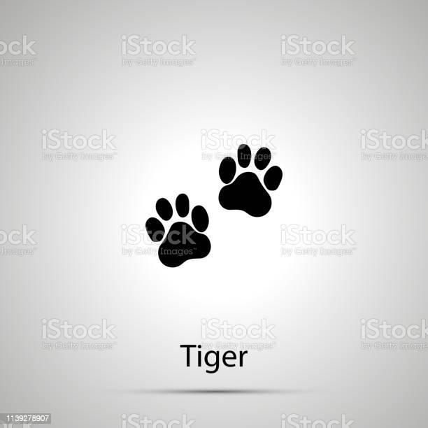 Tiger paws steps imprints simple black silhouette vector id1139278907?b=1&k=6&m=1139278907&s=612x612&h=8evshb ik2izem35d5akgnmnaj peiog37esvtdu3ha=