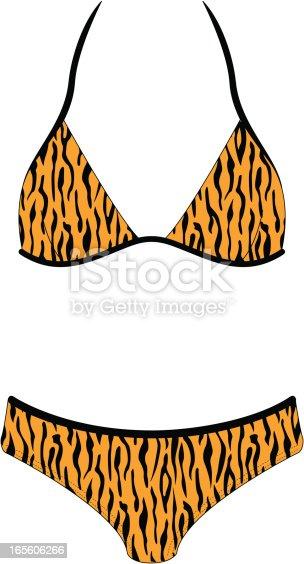 Tiger Print Bikini Swimsuit