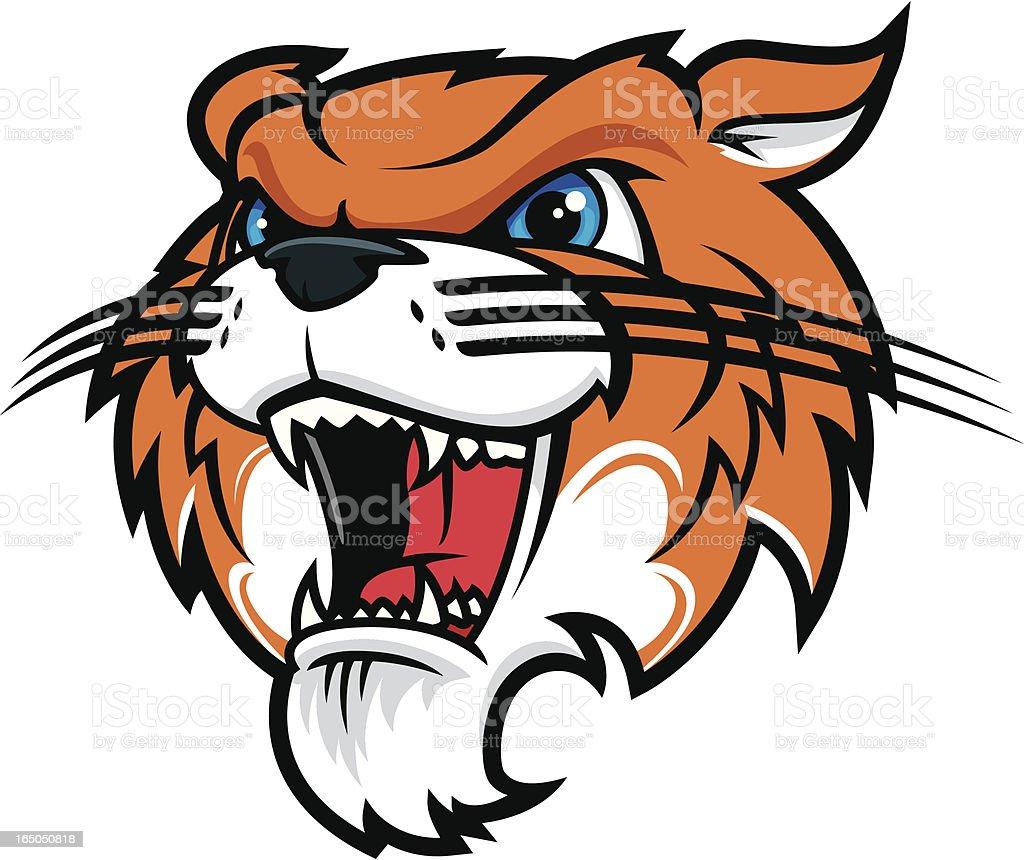 Tiger Roar vector art illustration
