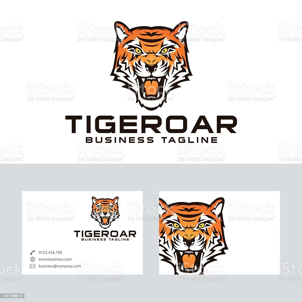 Tiger roar vector logo