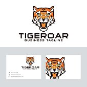 Tiger roar vector logo