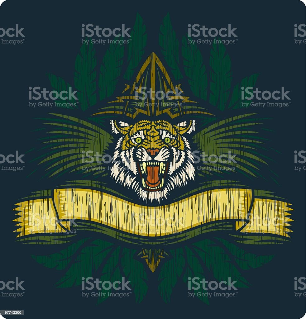 Tiger Safari Graphic royalty-free stock vector art