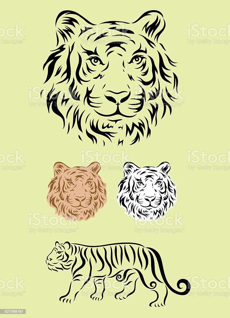 Tiger set ornament