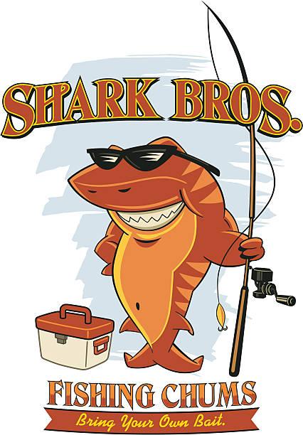 tiger shark - haifischköder stock-grafiken, -clipart, -cartoons und -symbole