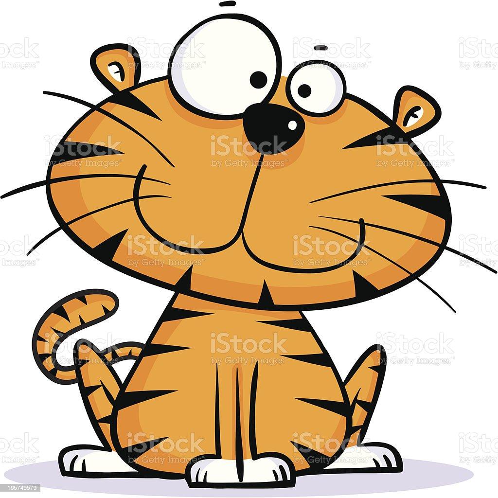 Tiger Sitting royalty-free stock vector art