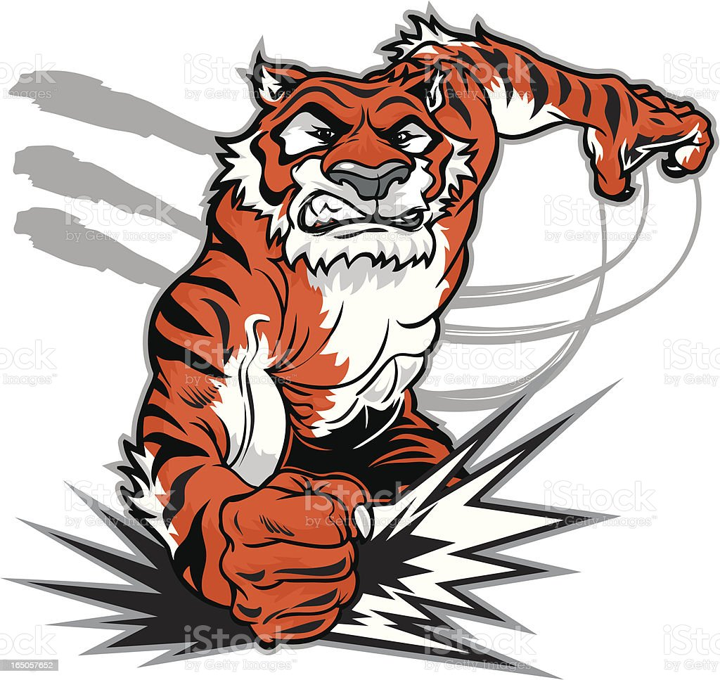 Tiger Smash royalty-free tiger smash stock vector art & more images of aggression