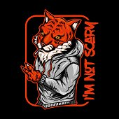 tiger smoke vector illustration for your company or brand