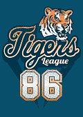 Tiger sports league jersey print