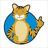 Tiger sticker icon avatar