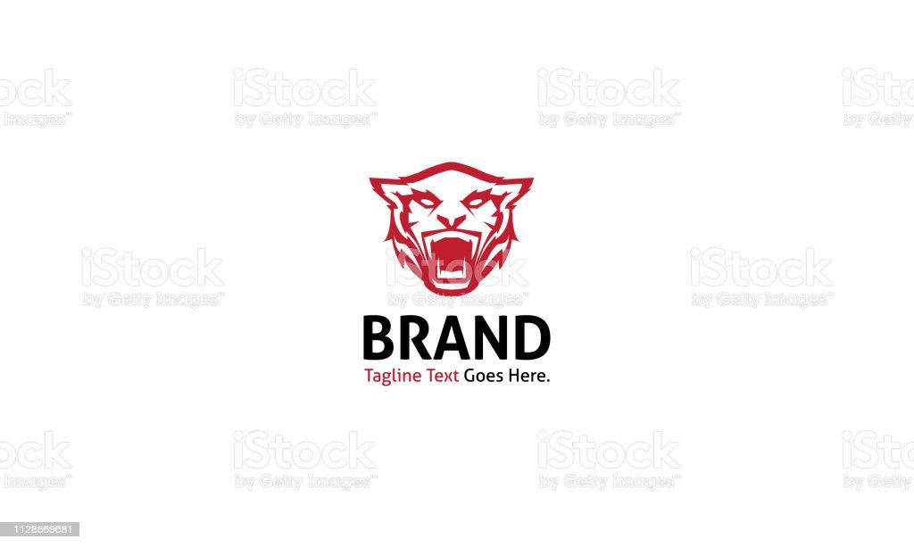 Tiger Strangth animal red vector image