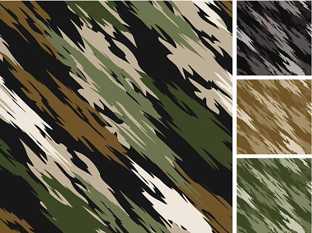 Tiger Stripe Camo Pattern Seamless vector art illustration