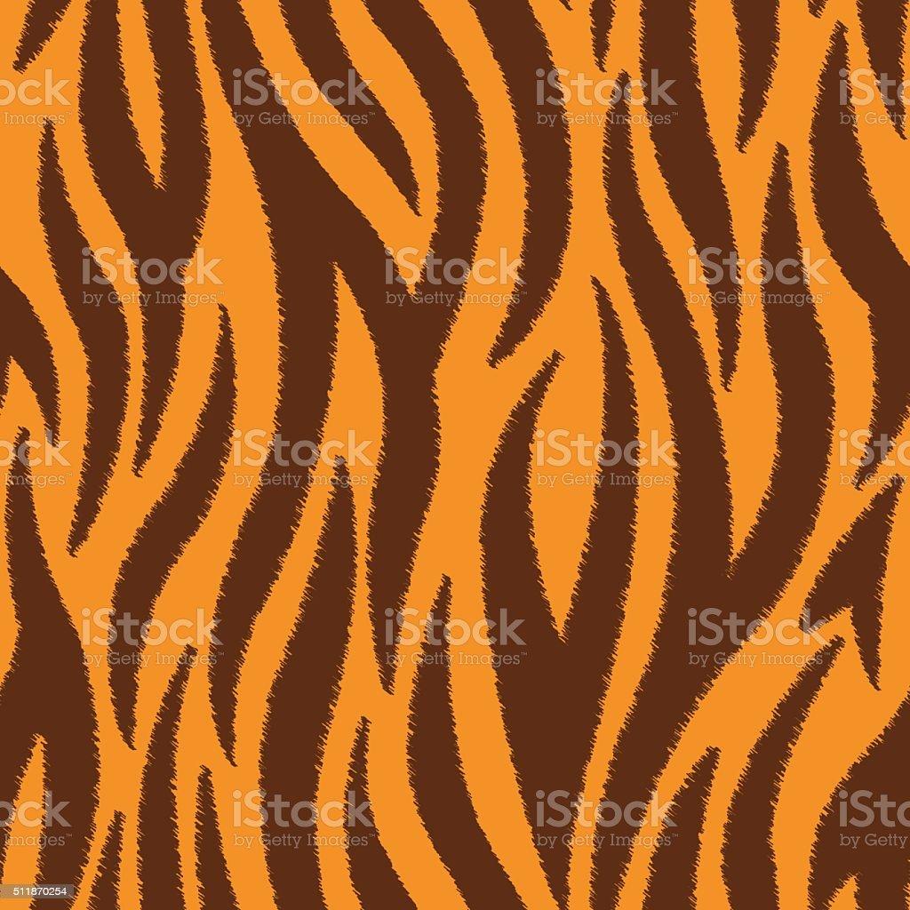 Tiger Stripes Scribble Seamless Pattern vector art illustration