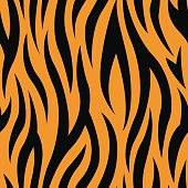 Tiger Stripes Seamless Pattern