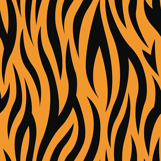 Tiger Stripes Seamless Pattern Tiger Stripes Seamless Vector Pattern animal markings stock illustrations
