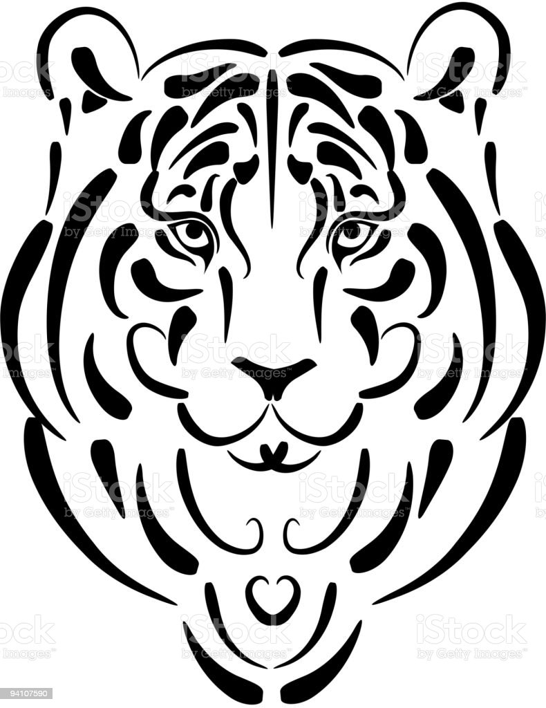 Tiger Stylized Silhouette Symbol Year Stock Vector Art More Images