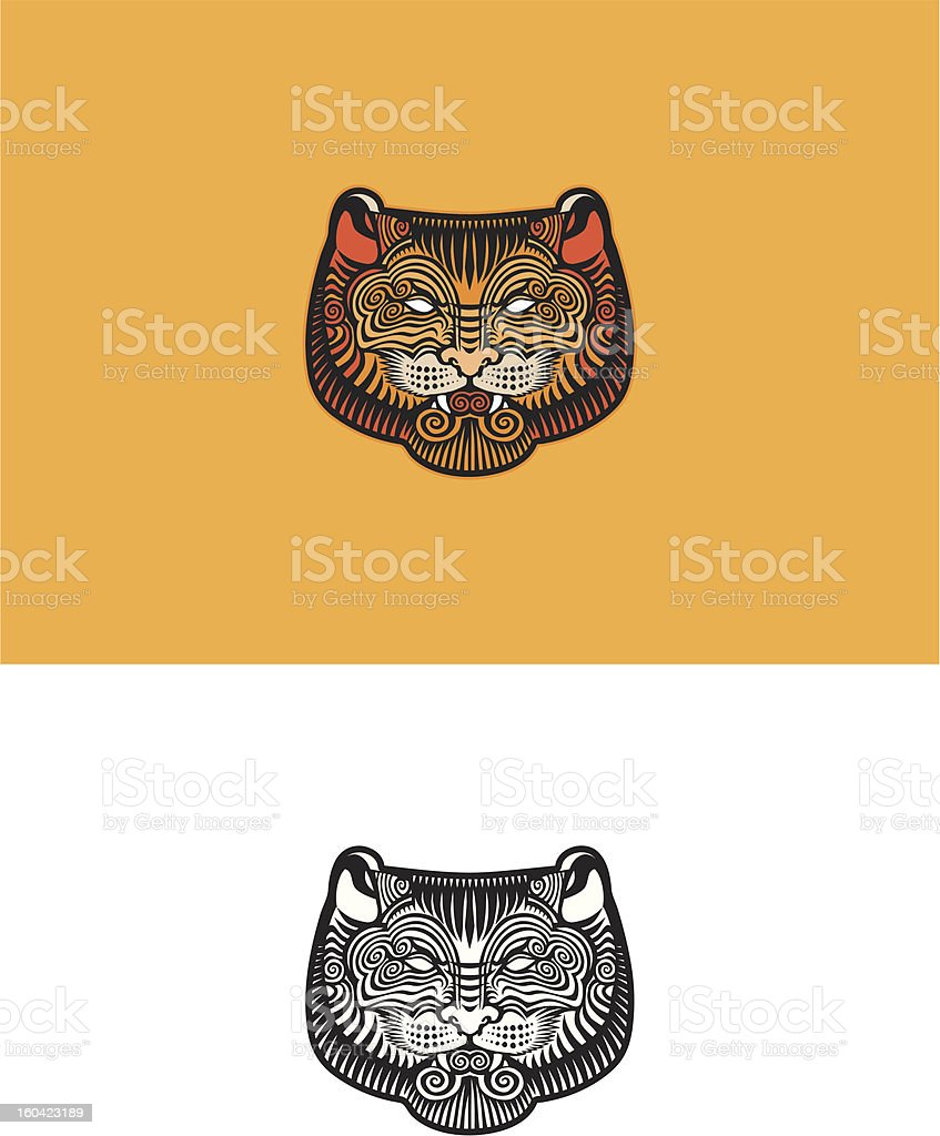 Tiger royalty-free stock vector art