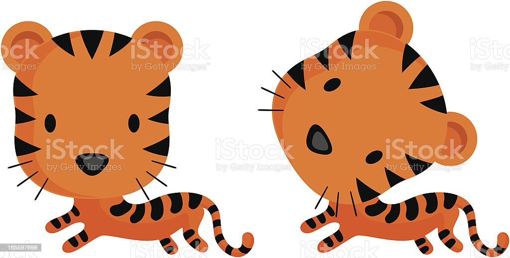 tiger royalty-free tiger stock vector art & more images of animal