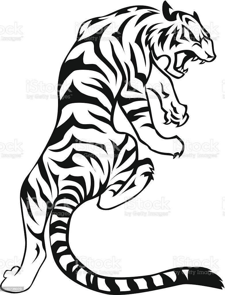 tiger stock vector art more images of 2010 450736029 istock rh istockphoto com tiger vector graphic tiger vector art free download