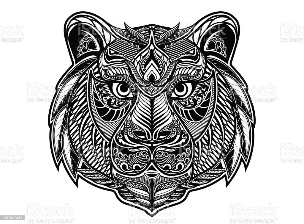 Tiger vektorkonstillustration
