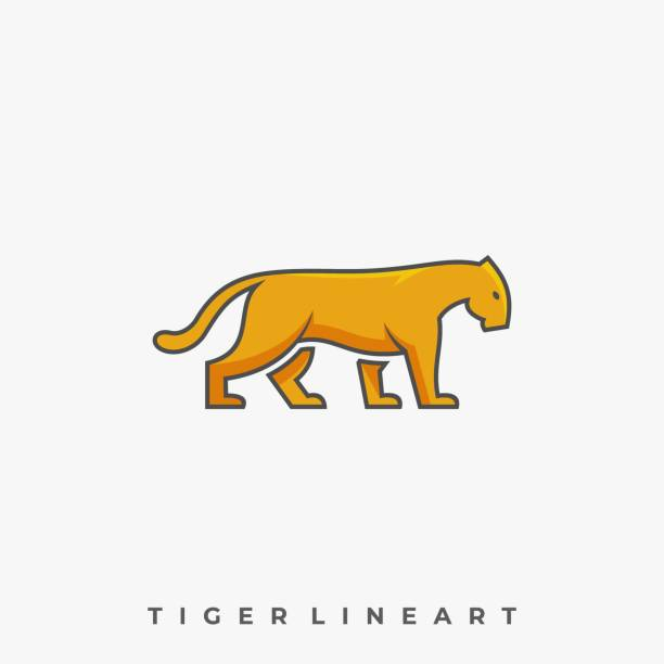 Tiger Walking Illustration Vector Template Tiger Walking Illustration Vector Template. Suitable for Creative Industry, Multimedia, entertainment, Educations, Shop, and any related business. giant fictional character stock illustrations