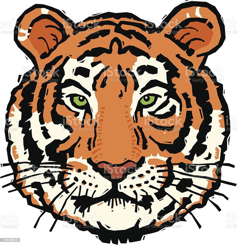 Tiger Woodcut royalty-free stock vector art