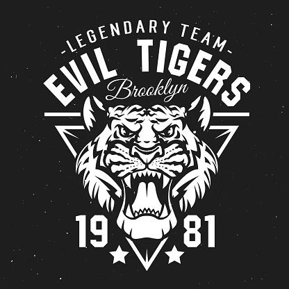 Tigers sport club, university team league badge