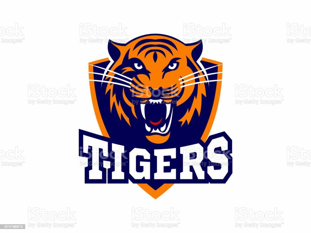 Os tigres  - Vetor de Agressão royalty-free