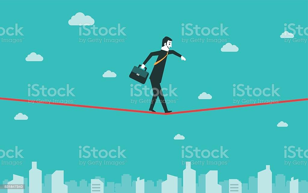 Tightrope向量藝術插圖
