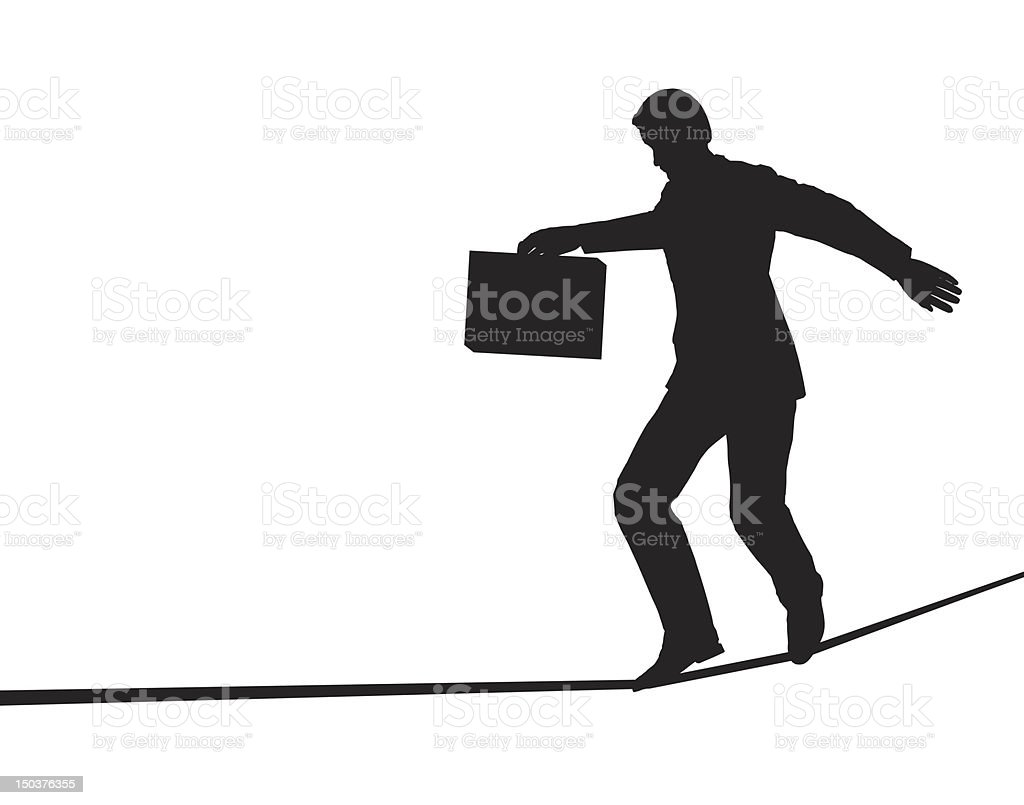 Tightrope walker royalty-free tightrope walker stock vector art & more images of adult