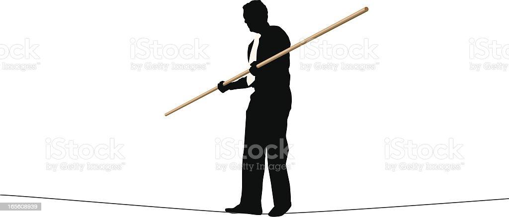 Tightrope Walker向量藝術插圖