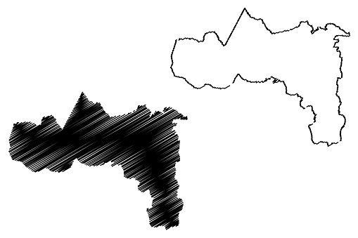 Tigray Region map vector