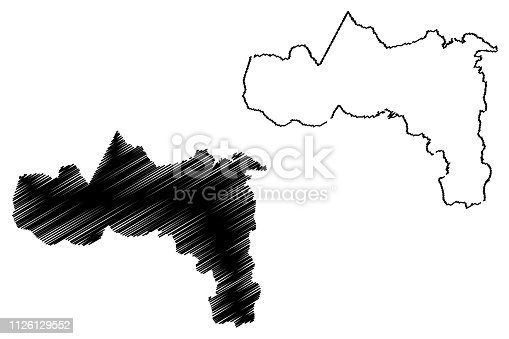 istock Tigray Region map vector 1126129552