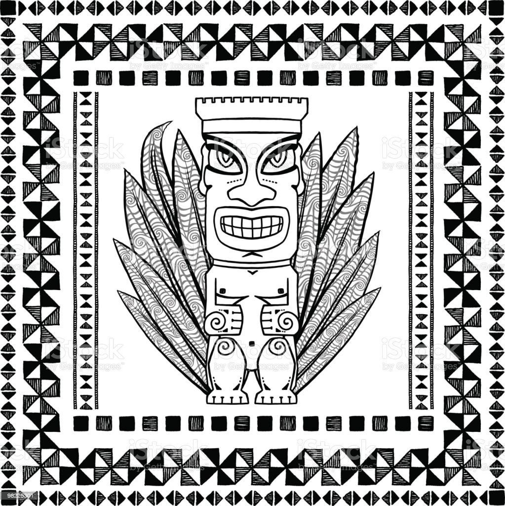 Tiki Design Set royalty-free tiki design set stock vector art & more images of adult