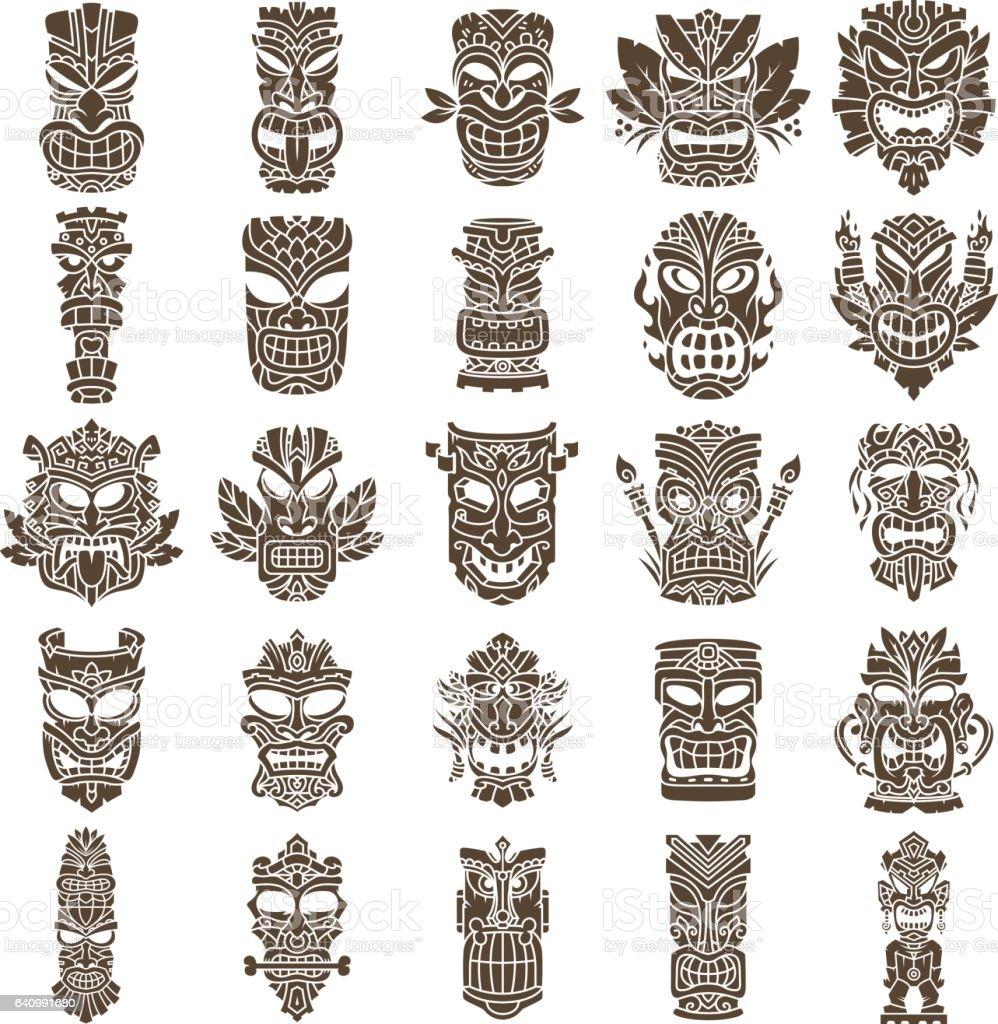Conjunto de design cabea tiki arte vetorial de acervo e mais conjunto de design cabea tiki conjunto de design cabea tiki arte vetorial de acervo e stopboris Images