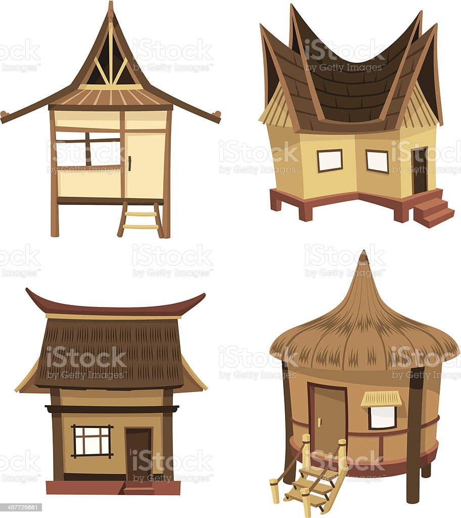 Tiki Home Collection vector art illustration