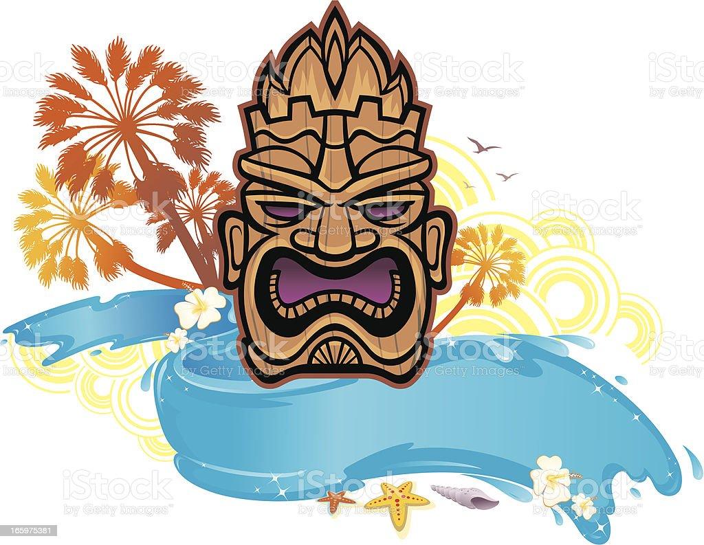 Tiki Island Paradise royalty-free stock vector art