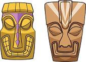 Tiki Masks Vector