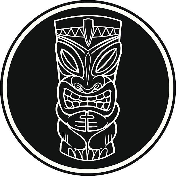 illustrazioni stock, clip art, cartoni animati e icone di tendenza di tiki simbolo - totem fair