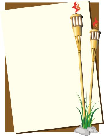 Tiki Torch Background