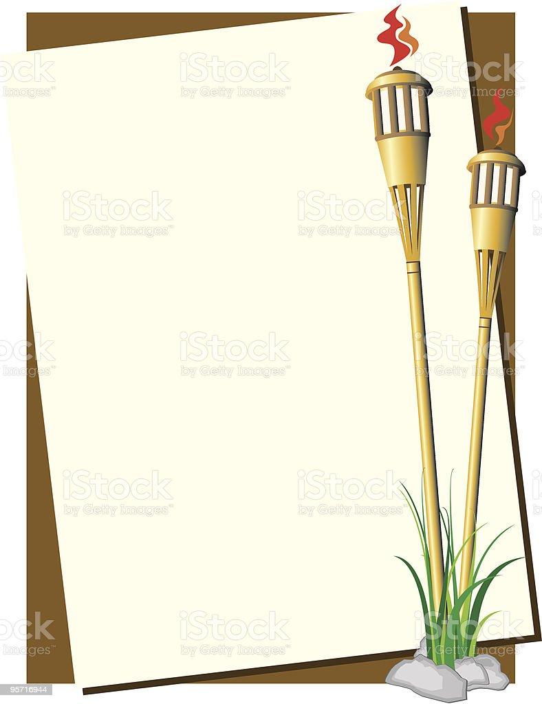 Tiki Torch Background vector art illustration