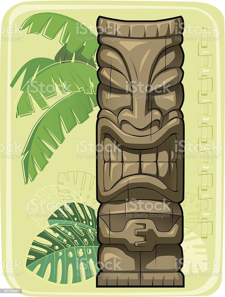 Tiki #2 vector art illustration