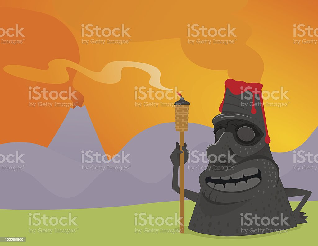 Tiki Volcano royalty-free tiki volcano stock vector art & more images of cartoon