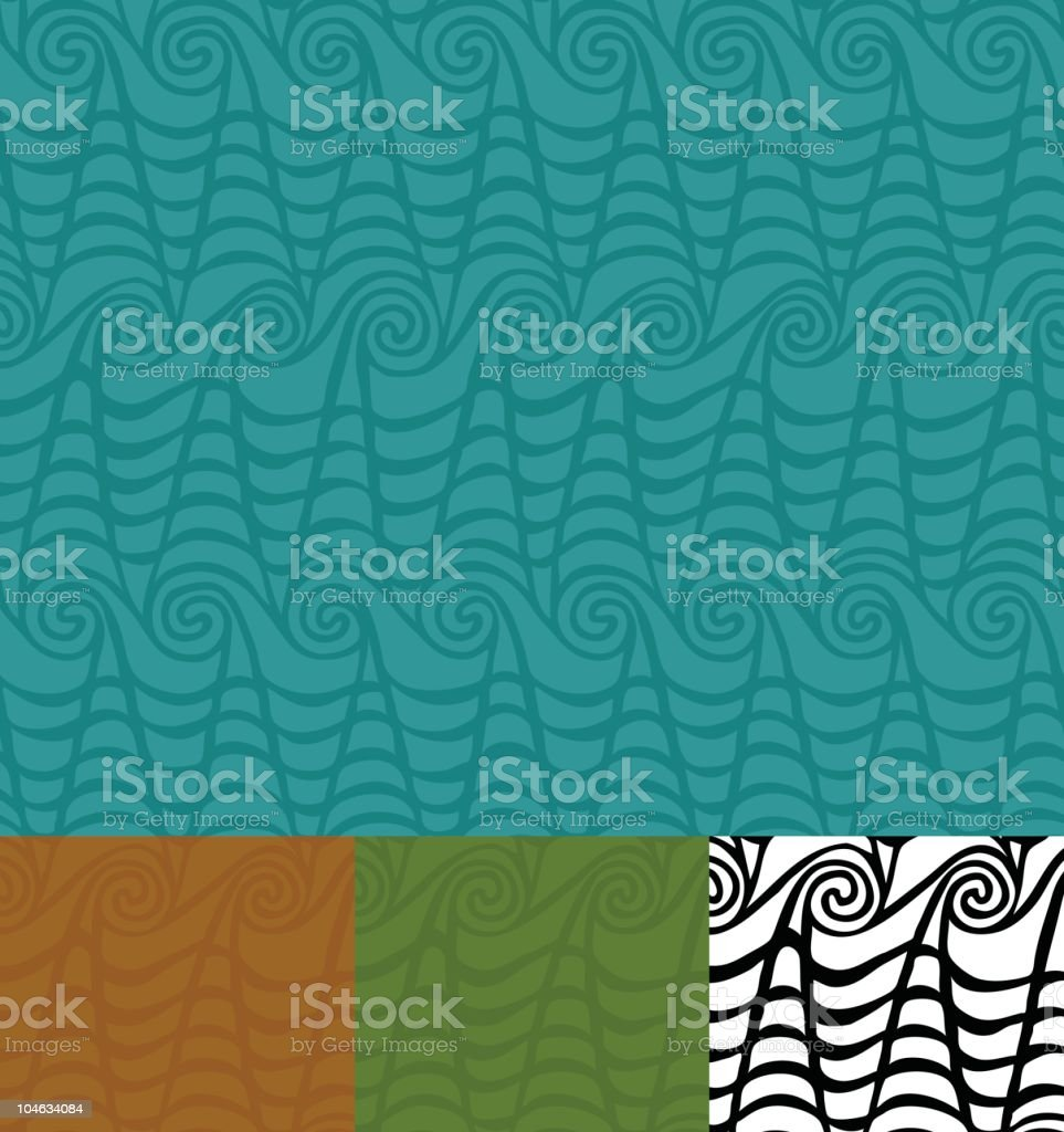 Tiki Waves Wallpaper vector art illustration