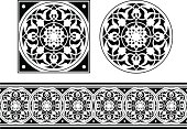 Ornate Tile and Frieze vector design Saved in formats , AI ver 12, EPS ver 8, Corel Draw ver 8, PDF, and High Res Jpeg