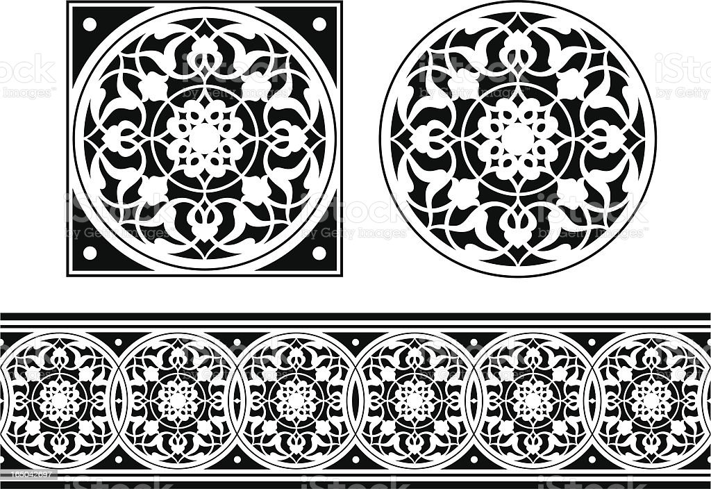 Tile and Frieze design vector art illustration