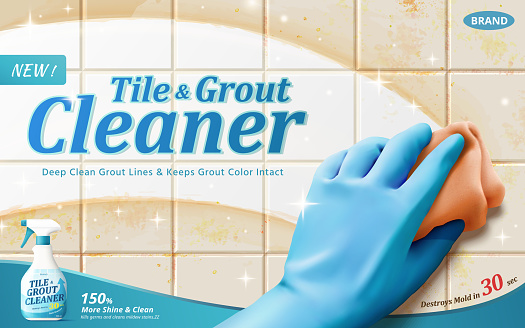 Tile and grout cleaner ad template